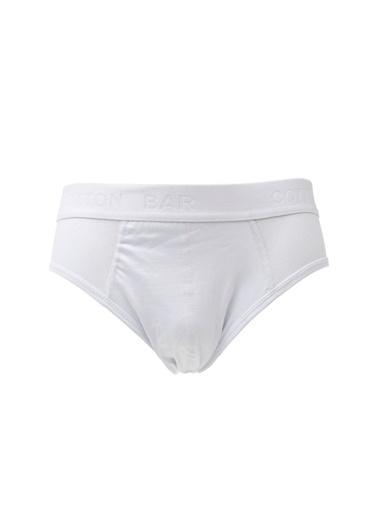 Cotton Bar Slip Beyaz